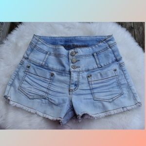 Almost Famous High Waist Denim Jean Shorts